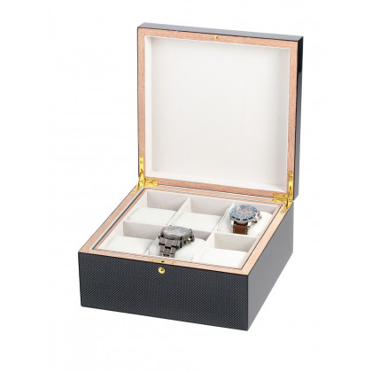 Rothenschild Watches & Jewellery Box RS-5598-6 For 6 Watches carbon-grey