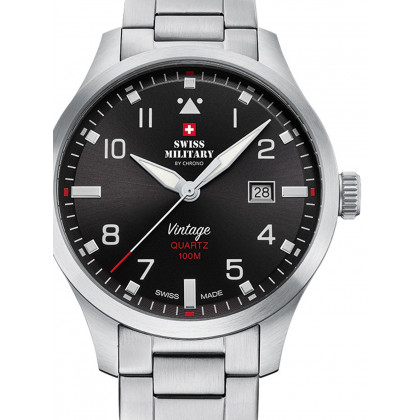 Swiss Military SM34078.01 men´s watch 43mm 10ATM