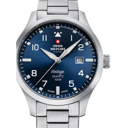 Swiss Military SM34078.03 Men's 43mm 10ATM