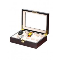 Rothenschild Watch Box RS-1087-10E for 10 Watches Ebony