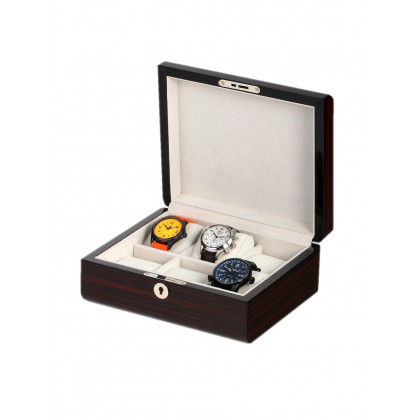 Rothenschild Watch Box RS-2267-6E for 6 Watches Ebony