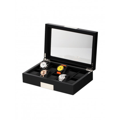 Rothenschild Watch Box RS-2350-10BL for 10 Watches Black