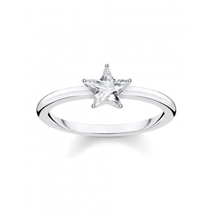 Thomas Sabo ladies ring Glam & Soul TR2283-051-14-56 star silver size 56
