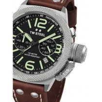 TW-Steel CS23 Canteen Leather Chronograph 45mm 10 ATM