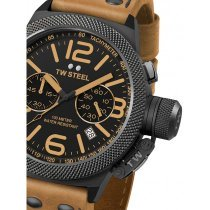 TW-Steel CS44 Canteen Leather Chronograph 50mm 10 ATM