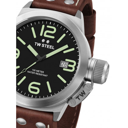 TW Steel CS21 Canteen Leather 45mm 10 ATM