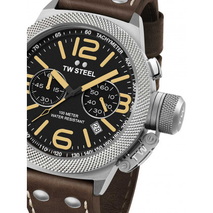 TW-Steel CS33 Canteen Leather Chronograph 45mm 10 ATM
