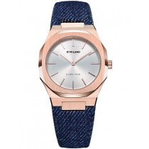 D1 Milano UTDL02 Ultra Thin Dark Denim ladies 34mm 5ATM
