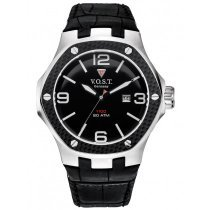 V.O.S.T. Germany V100.010.3S.SC.L.B Steel-Date 44mm 20ATM