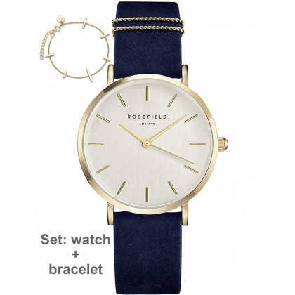 Rosefield WBUG-W70 West Village - set w. bracelet ladies 33mm 3ATM