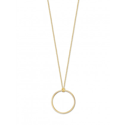 Thomas Sabo Necklace X0252-413-39-L90 90cm w. pend. circle Gold