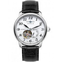 Zeppelin 7666-1 LZ127 Count Zeppelin White Men's 5 ATM 40 mm