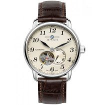 Zeppelin LZ-127 7666-5 Automatic Silver Brown 41mm 50M