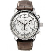 Zeppelin 7680-1 100 Years Zeppelin Alarm Chronograph 42mm 10 ATM