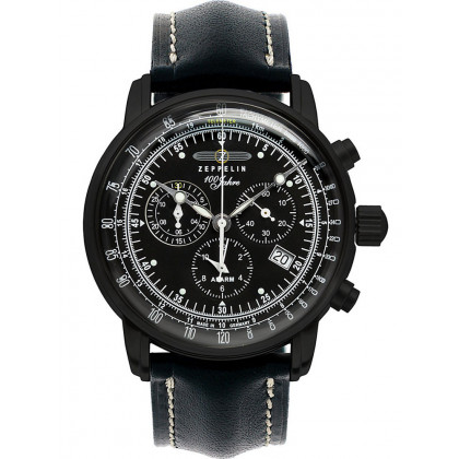 Zeppelin 7680-5 Black Men's Watch Chronograph