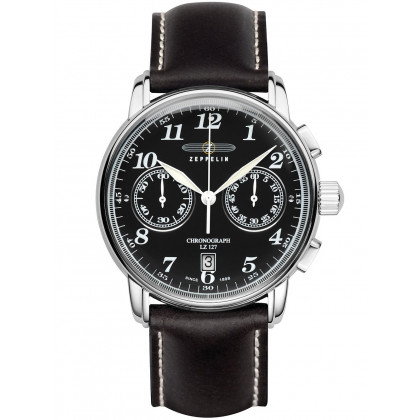 Zeppelin 7678-2 LZ127 Count Zeppelin Chronograph Black 42mm
