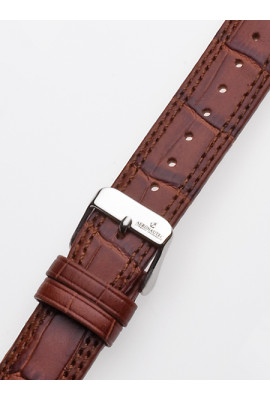 Watch-strap 20 x 185 mm Brown Silver Clasp